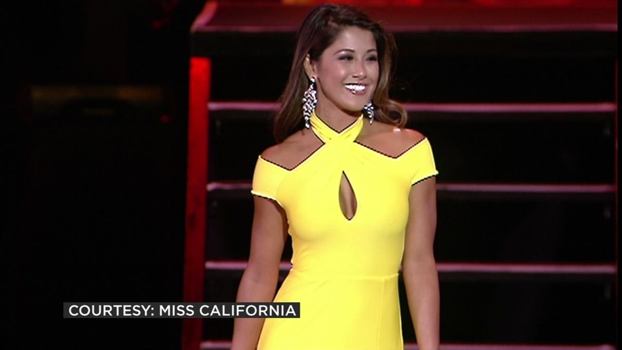 Miss California competes in the Miss America Pageant on Sunday, September 11, 2016.