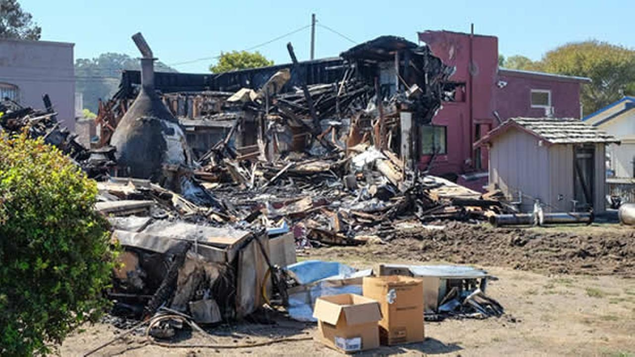 A fire destroyed the Pescadero Country Store on Sunday, September 18, 2016.