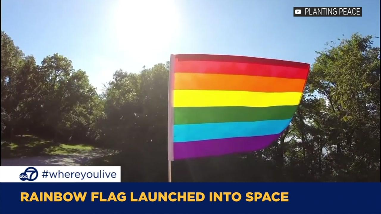 KNOW AND TELL: Rainbow pride flag launched into space