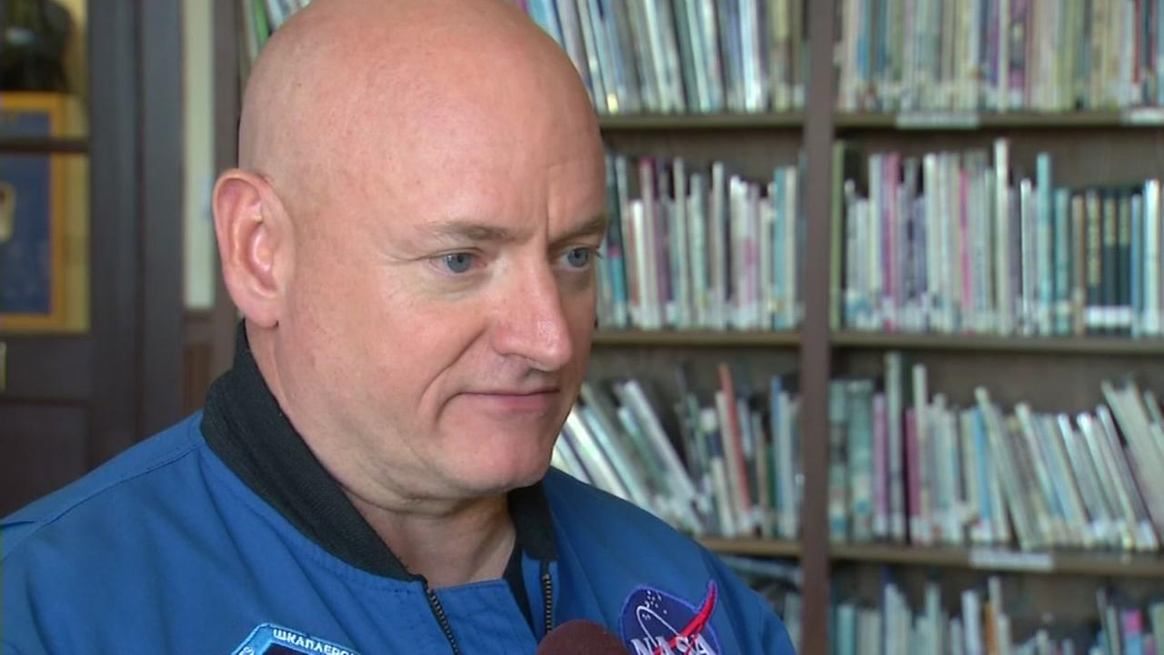 This image shows former NASA astronaut as he speaks to ABC7 News reporter Laura Anthony at a school in Berkeley, Calif. on August 29, 2016.