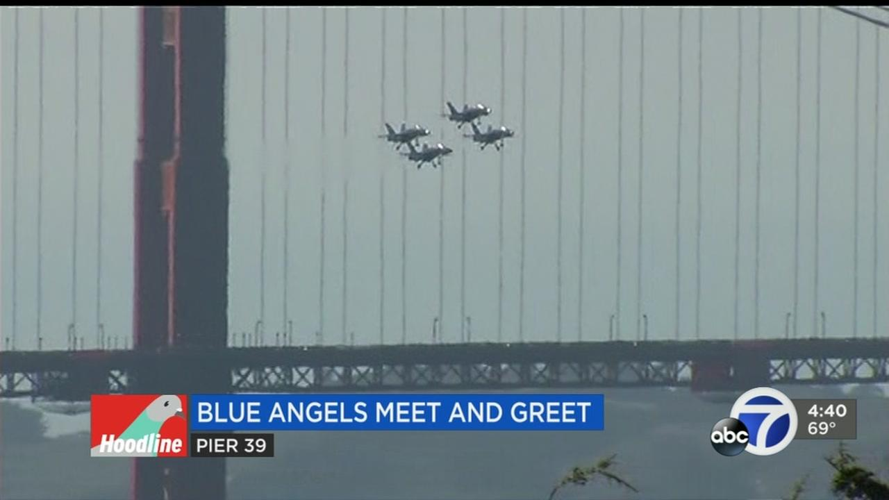 The Blue Angels are seen in San Francisco, Calif. in this undated image.
