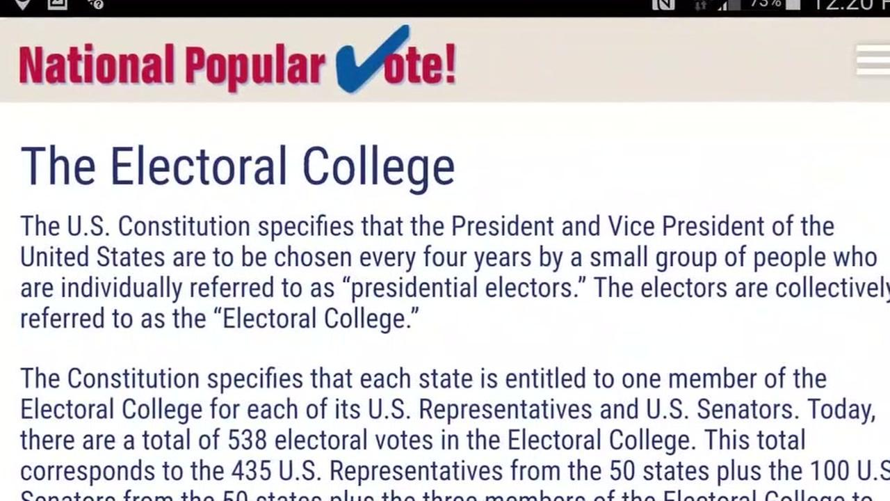 This is an undated image of an electoral college site.