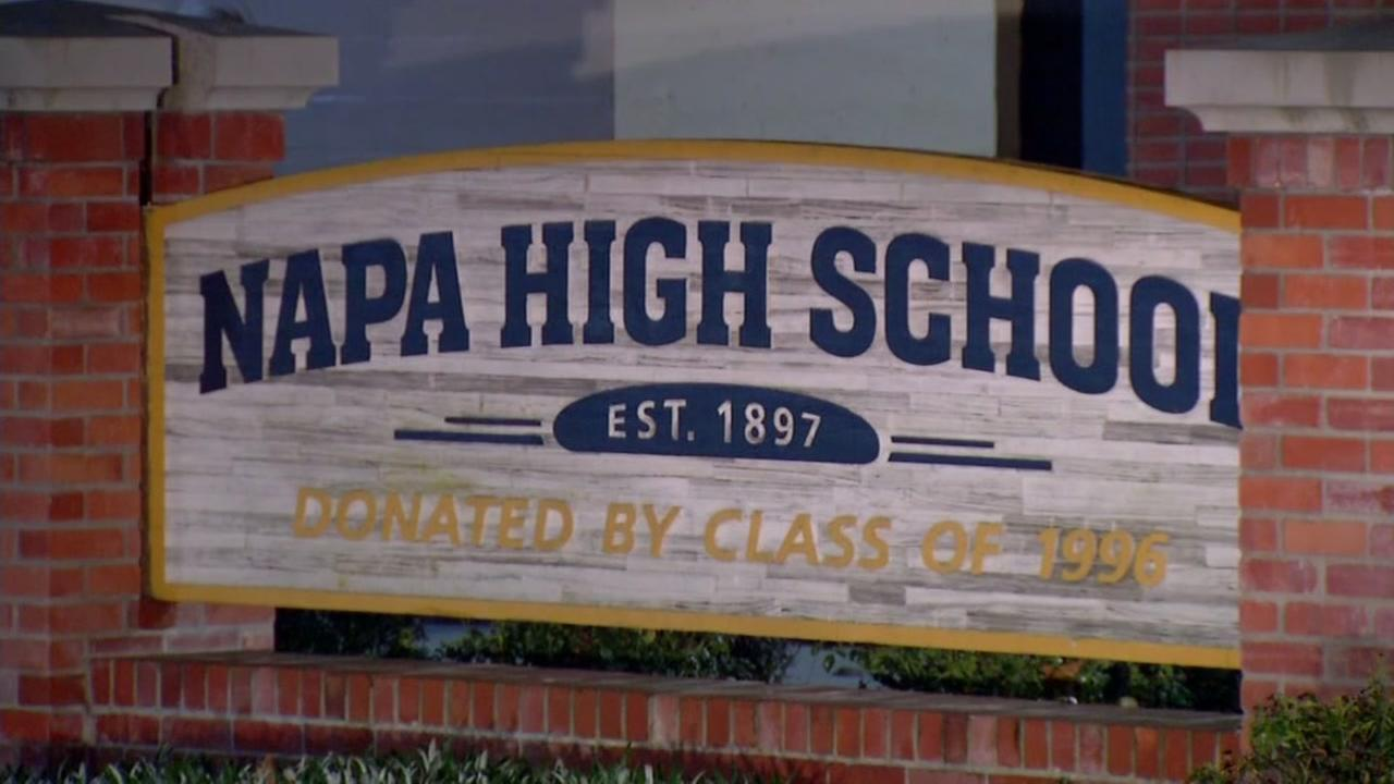 This is an undated image of a sign outside Napa High School.