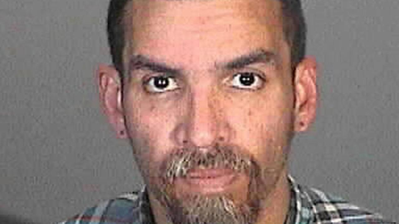 Mug shot of Derick Almena in Glendale, California taken in December, 2015.