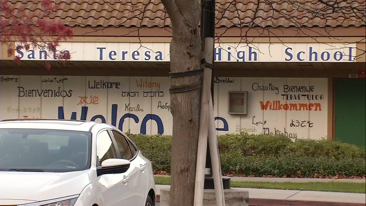 This is an undated image of the exterior of Santa Teresa High School in San Jose, Calif.