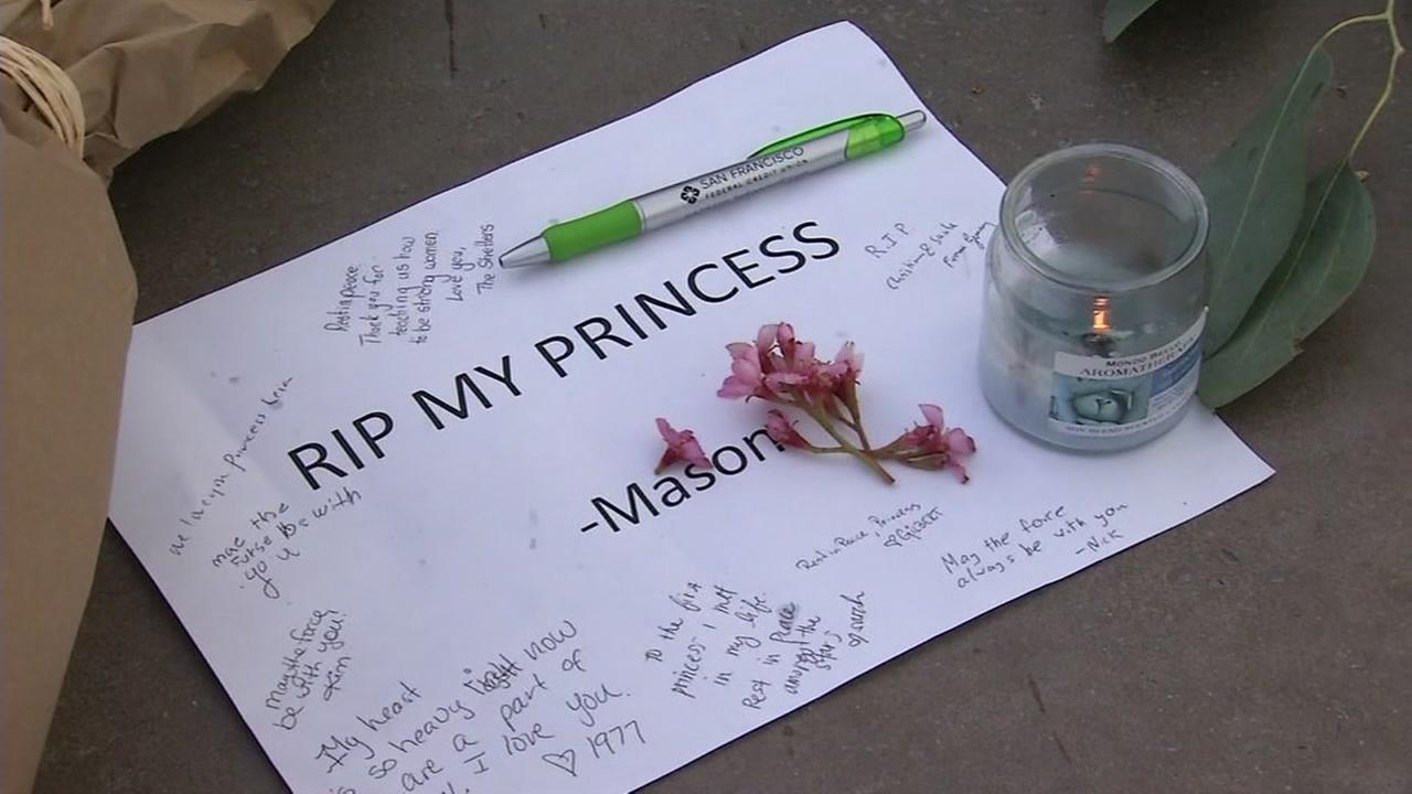 Flowers and notes of support appear at the Yoda statue in San Francisco, Calif. on Dec. 27, 2016.