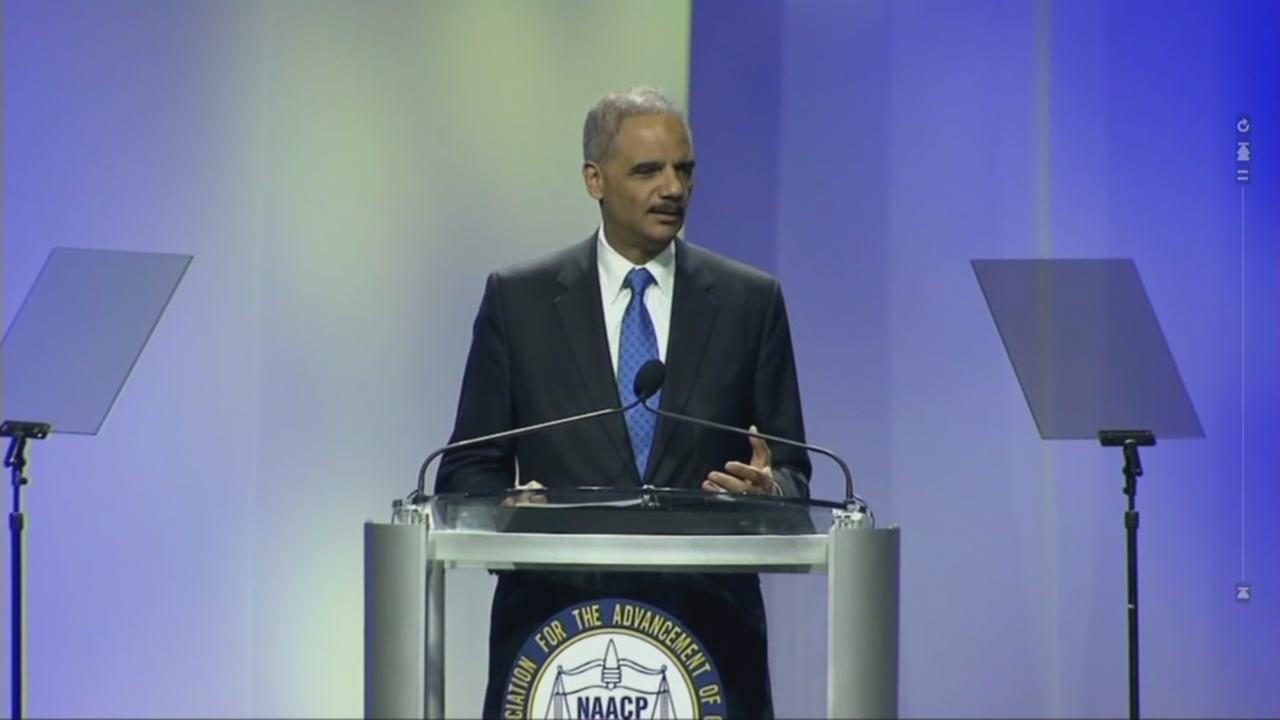 Former U.S. Attorney General Eric Holder is seen in this undated image.