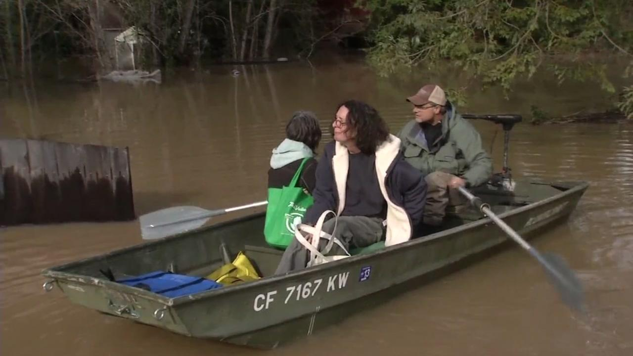 Flooding in Guerneville, Calif. is seen on Wednesday January 11, 2017.