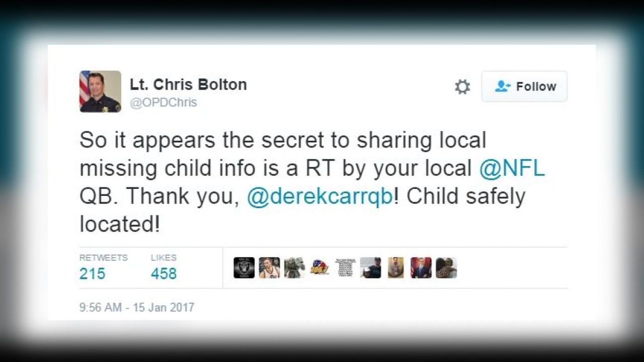 This is an undated screenshot of Derek Carrs tweet.