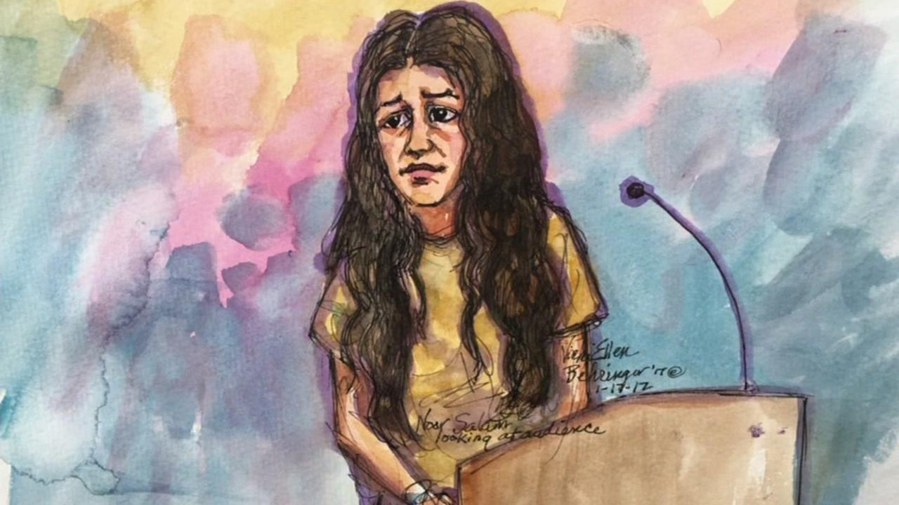 A court sketch of Noor Salman is seen in this undated image.