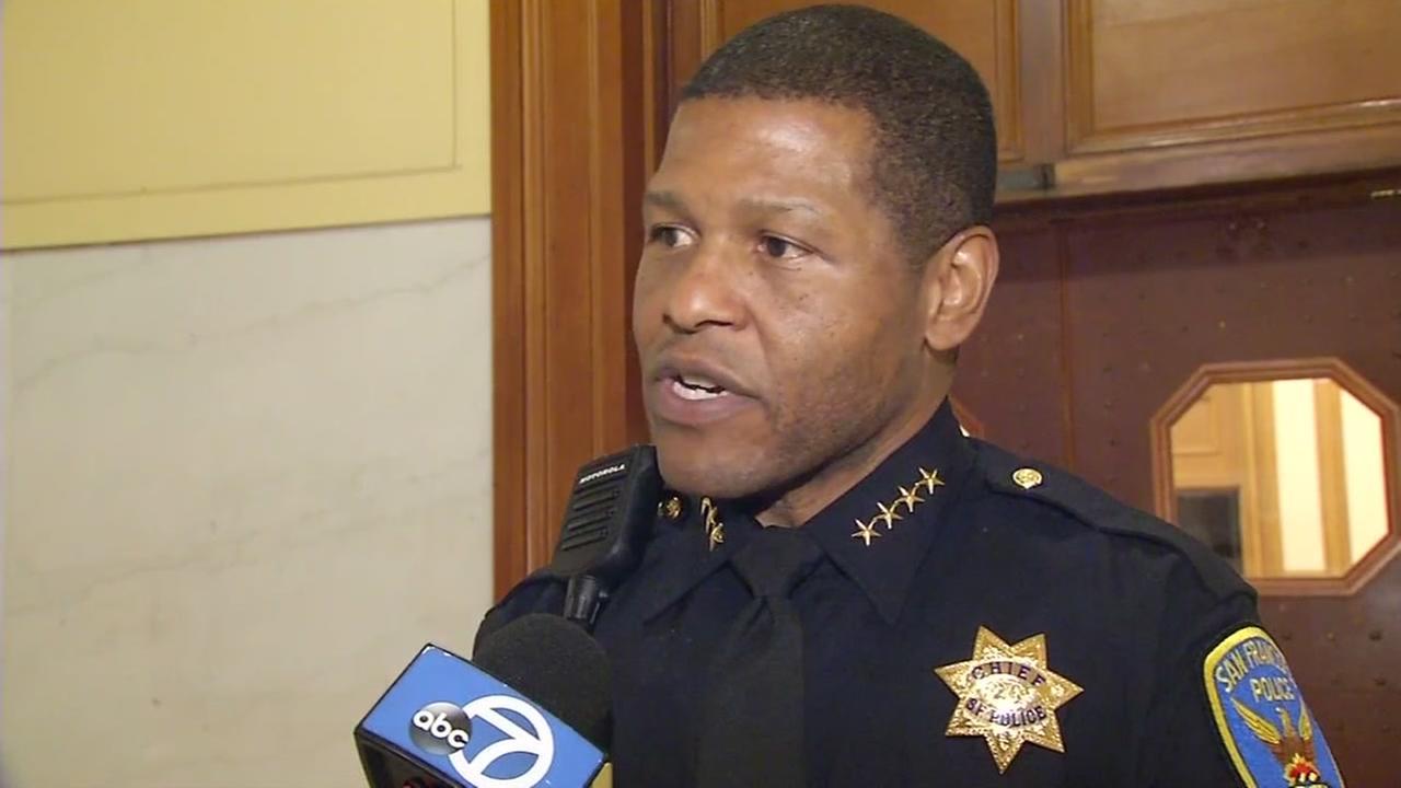 SFPD Chief Bill Scott talks with ABC7 News in San Francisco on Feb. 2, 2017.
