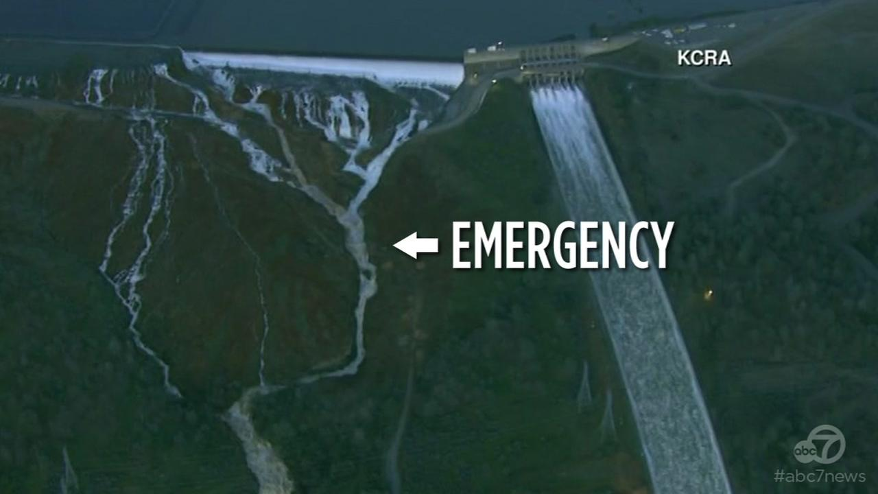 Nearly 200,000 people have been evacuated Monday night over fear the Oroville Dam emergency spillway could fail.
