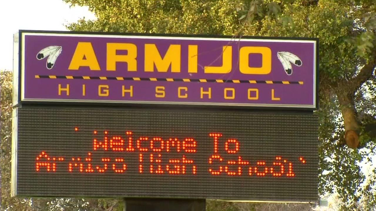 This is a sign outside Armijo High School in Fairfield, Calif. pictured on Feb. 16, 2017.