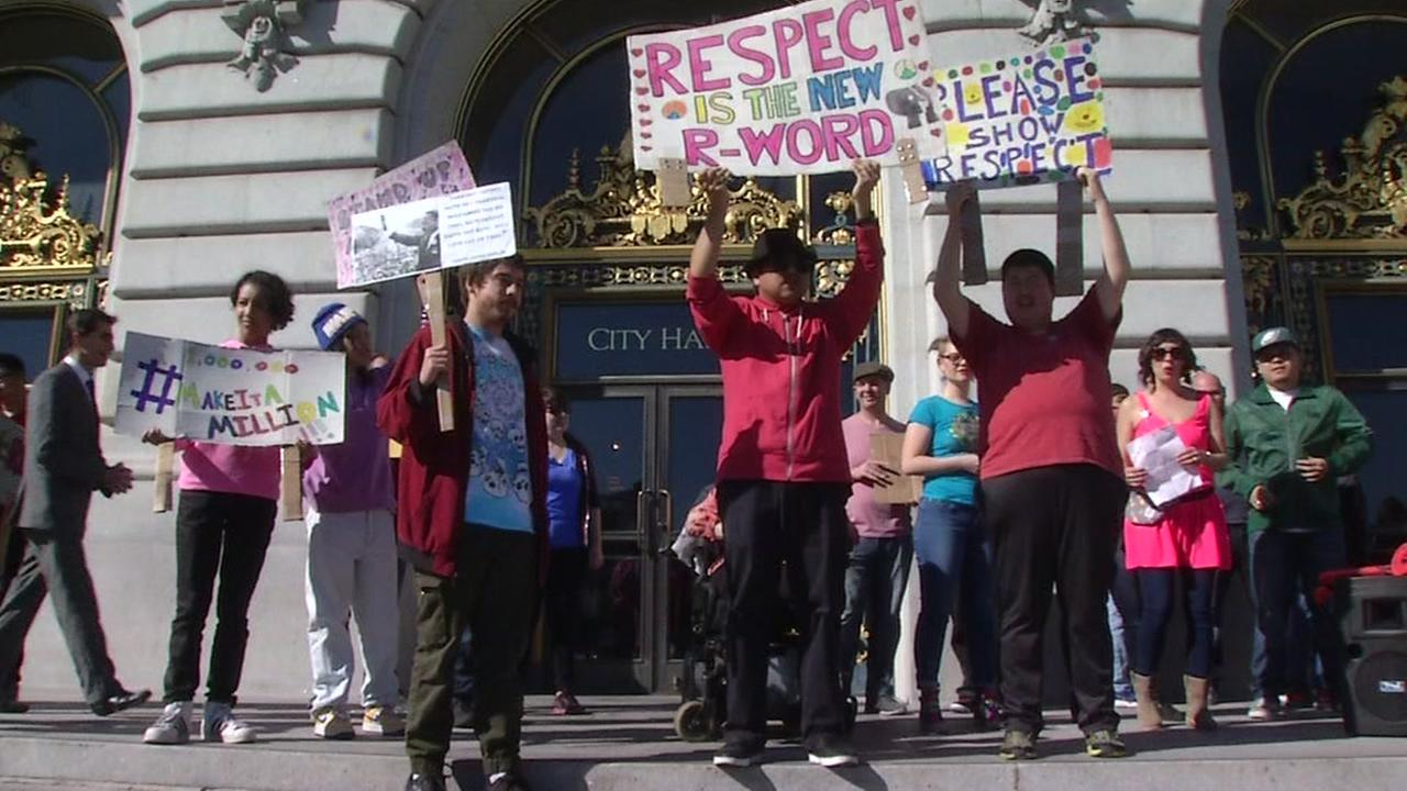 Students and teachers rally on the steps of San Francisco City Hall on Mar. 1 , 2017.
