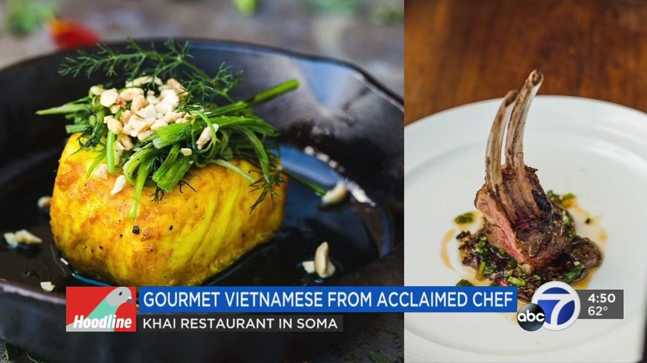 Gourmet offerings are shown at the Khai restaurant in San Francisco, Calif.
