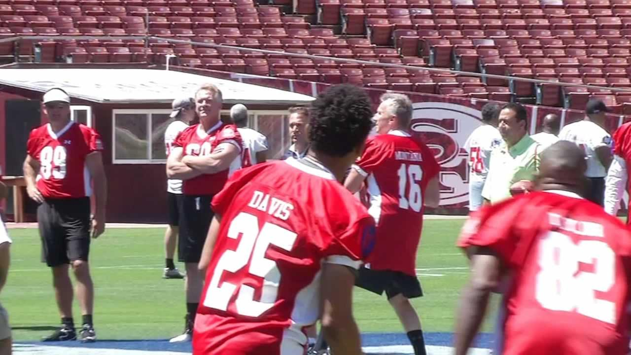 Its not exactly the Super Bowl, but former 49ers greats are ready for the Legends of Candlestick flag football game.