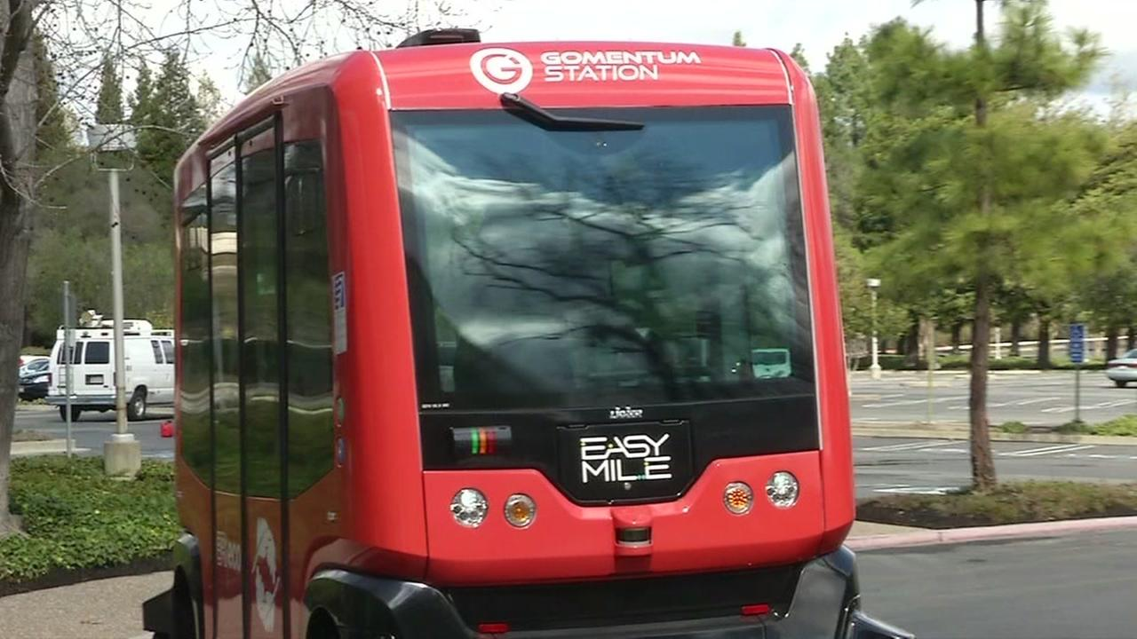 Researchers test driverless buses in San Ramon