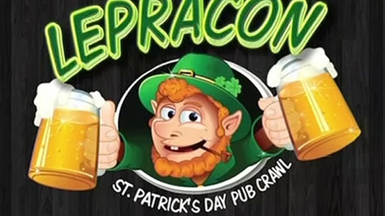 An ad promoting the annual LepreCon Pub Crawl in San Francisco, Calif. is seen in this undated image.