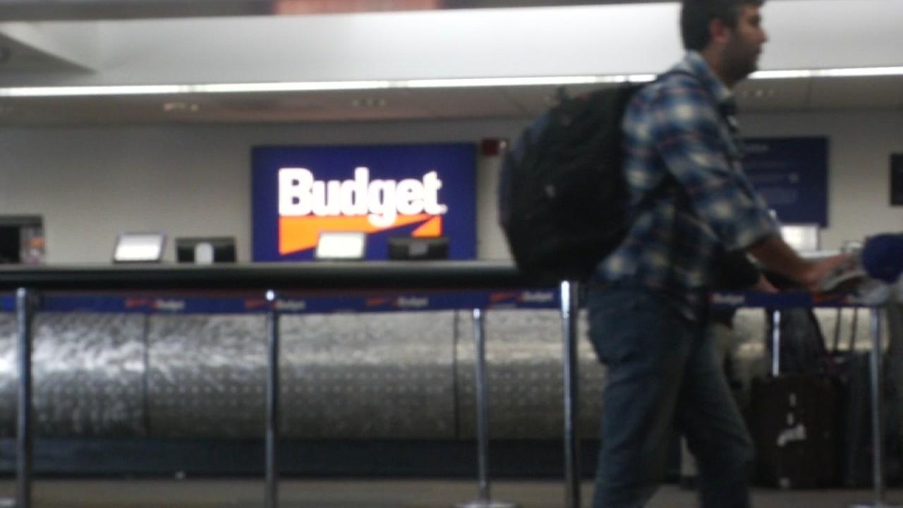A Budget rental car service is seen in this undated image.