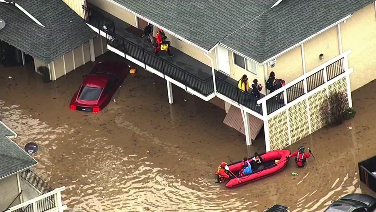 FILE -- Flooding in San Jose, California.