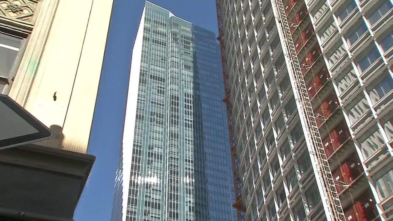 Millennium Tower appears on March, 29, 2017, after a lawsuit was filed on behalf of the Millennium Tower Homeowners Association in San Francisco.