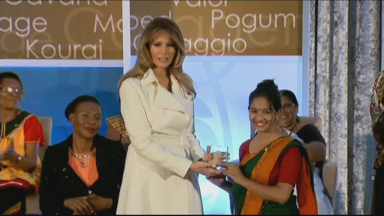 Melania Trump appears at the 2017 Women of Courage Awards in Washington D.C. on March, 29, 2017.