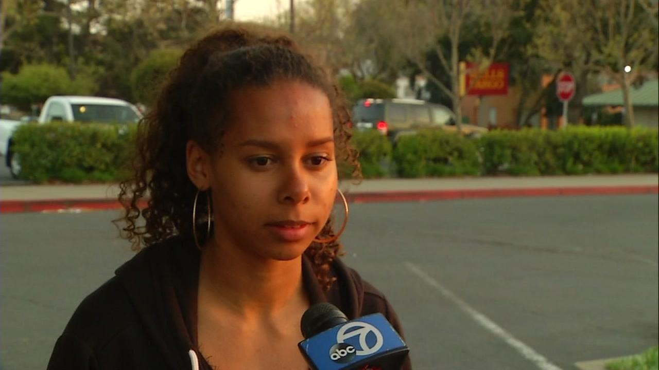 Albany High School student Anika Mallard speaks to ABC7 News on March 30, 2017.