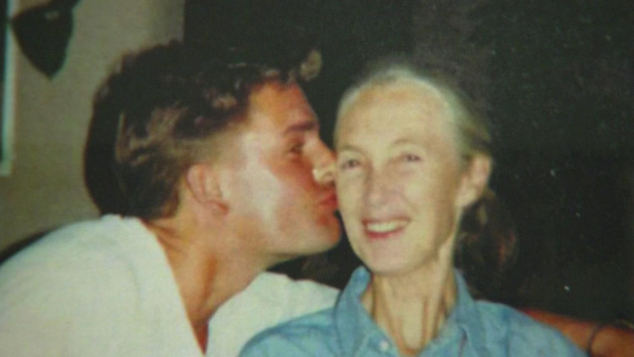 This is an image of Gregg Chevaria and Jane Goodall from the summer of 1993 taken in Tanzania.