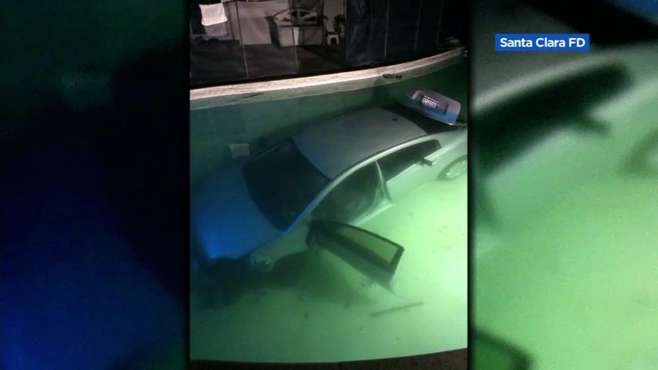 Driver plunges car into pool at home in Santa Clara