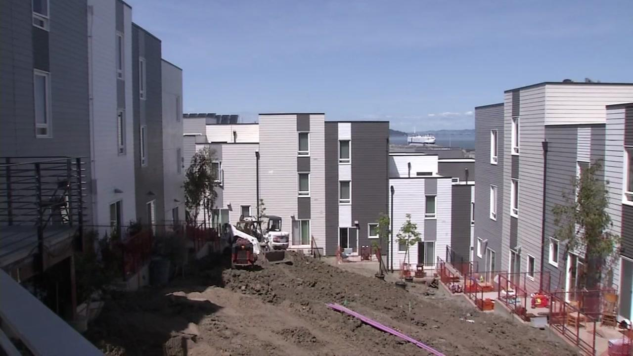 A public housing development in San Francisco is seen on Friday, April 14, 2017.