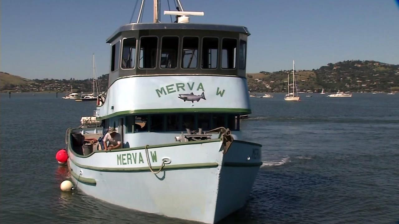 A fishing boat called the Merva is seen in Sausalito, Calif. on Sunday, April 30, 2017.