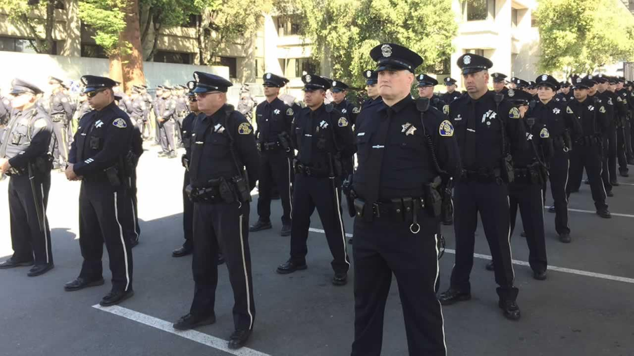 San Jose police hold ceremony for officers killed in the line of duty
