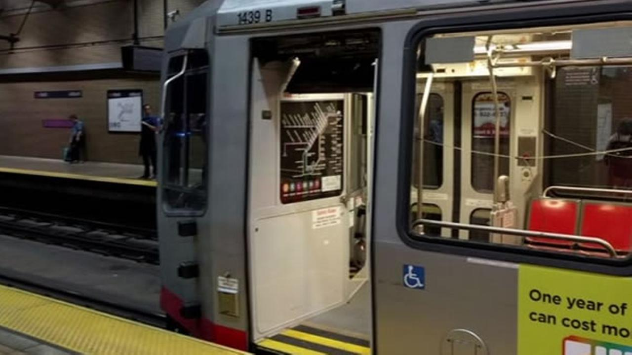 Muni rider tweeted this photo showing the light rail train car without a door on Tuesday, May 2, 2017 in San Francisco.