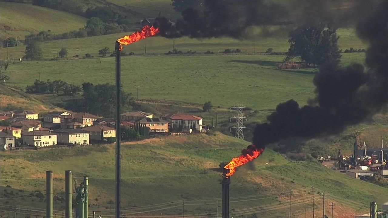 Sky7 over flaring at Valero Refinery in Benicia, California, Friday, May 5, 2017.