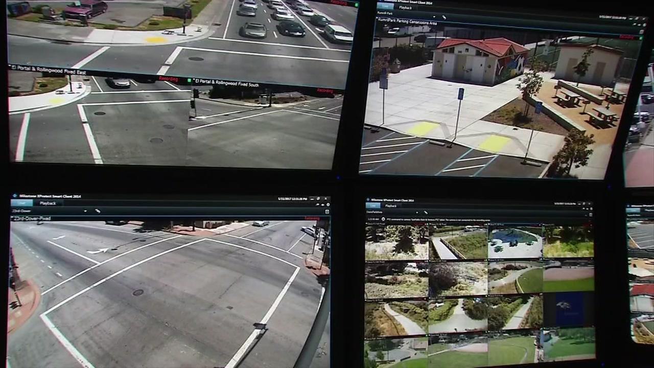 A system of cameras monitoring East bay freeways is seen in this undated image.