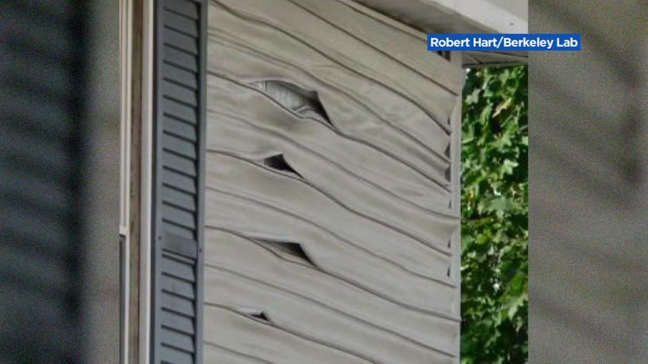 This is an undated image of the siding on a home that has had problems with low e-glass windows.