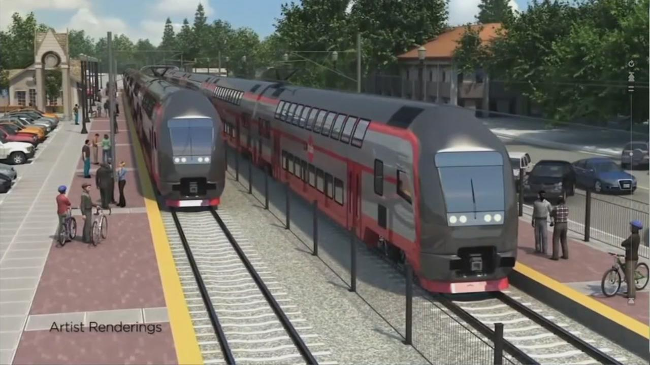 This animation was created by Caltrain.
