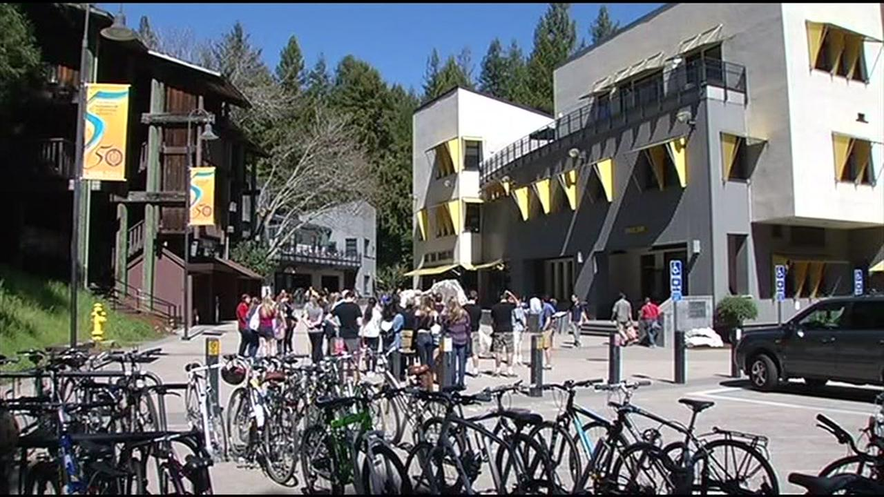 The UC Santa Cruz campus is seen on Friday, May 19, 2017.