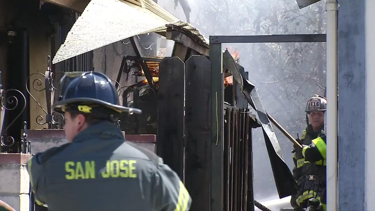 Fire leads to water line break and traffic delays in San Jose