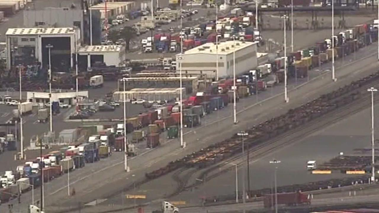 Traffic is seen near the Port of Oakland on Thursday, May 25, 2017.