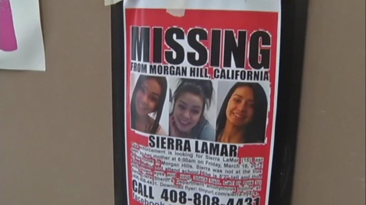 This is an undated image of a missing poster for Sierra Lamar.