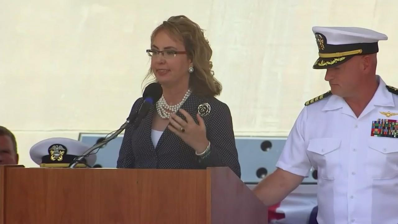 USS Gabrielle Giffords military ship commissioned in her honor