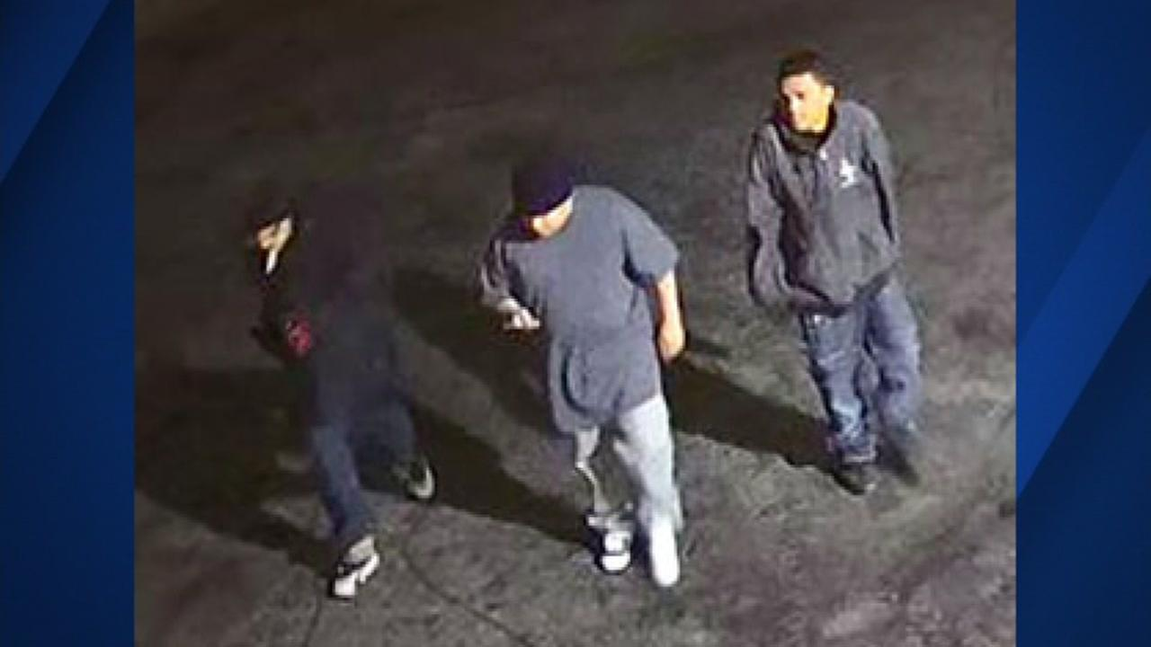 Three people suspected in a gas station robbery in San Jose are seen on Thursday, May 25th, 2017.