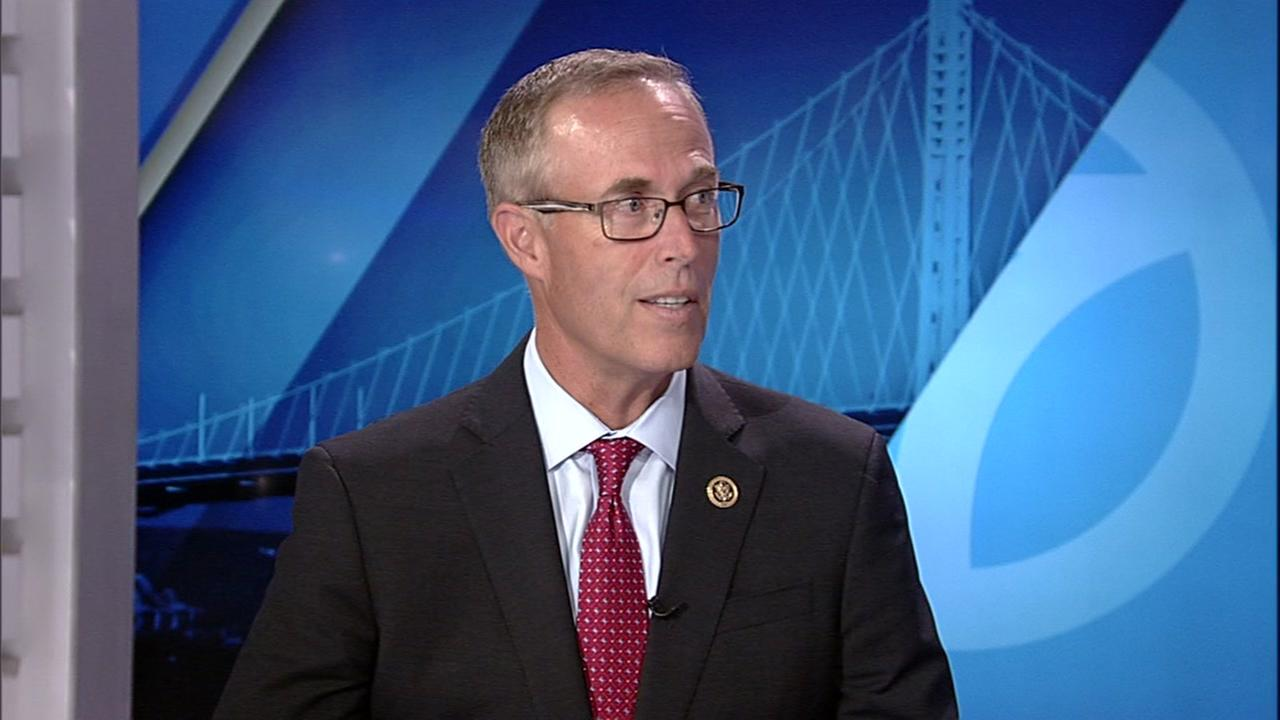 Congressman Jared Huffman is seen in the ABC7 studio on Friday, July 7, 2017.