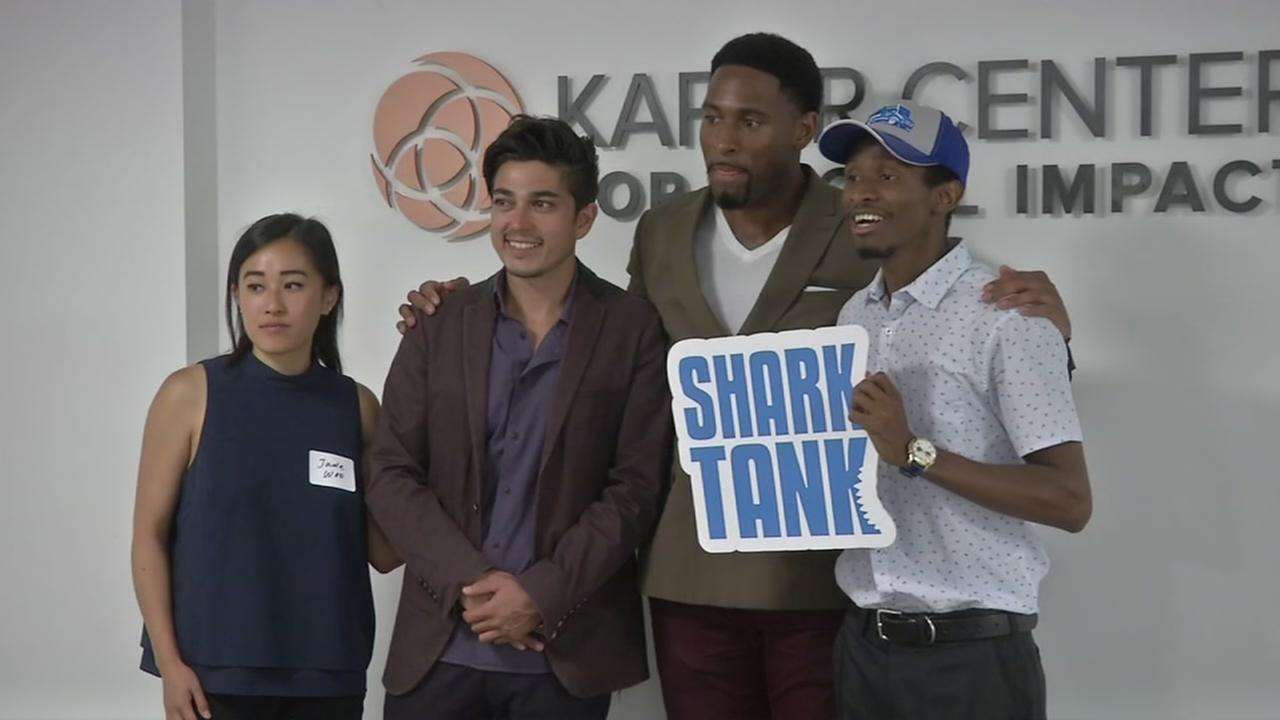 Shark Tank hopefuls of the Trunger app pose for a photo on Wednesday, July 12, 2017.