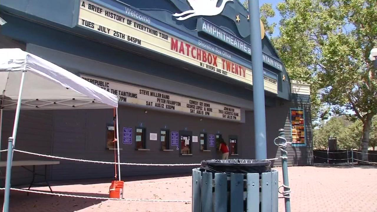 This is an undated image of the marquis from the Shoreline Ampitheatre featuring Matchbox Twenty.