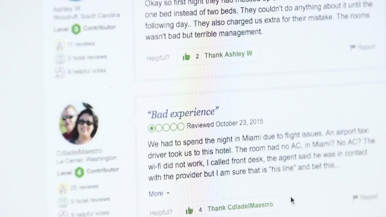 This is an undated image of an online review.