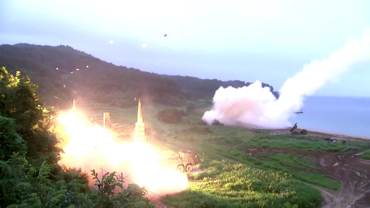 A missile is seen in North Korea in this undated image.