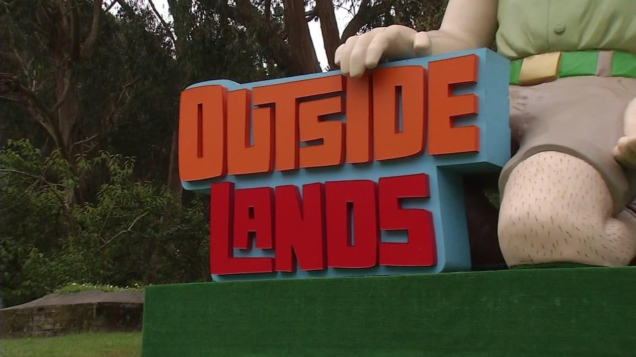 The Outside Lands festival sign is seen in San Francisco, Calif. on Friday, August 11, 2017.