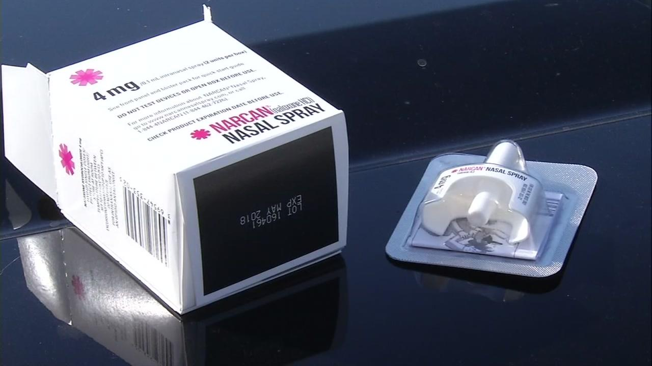 This is an undated image of Narcan.